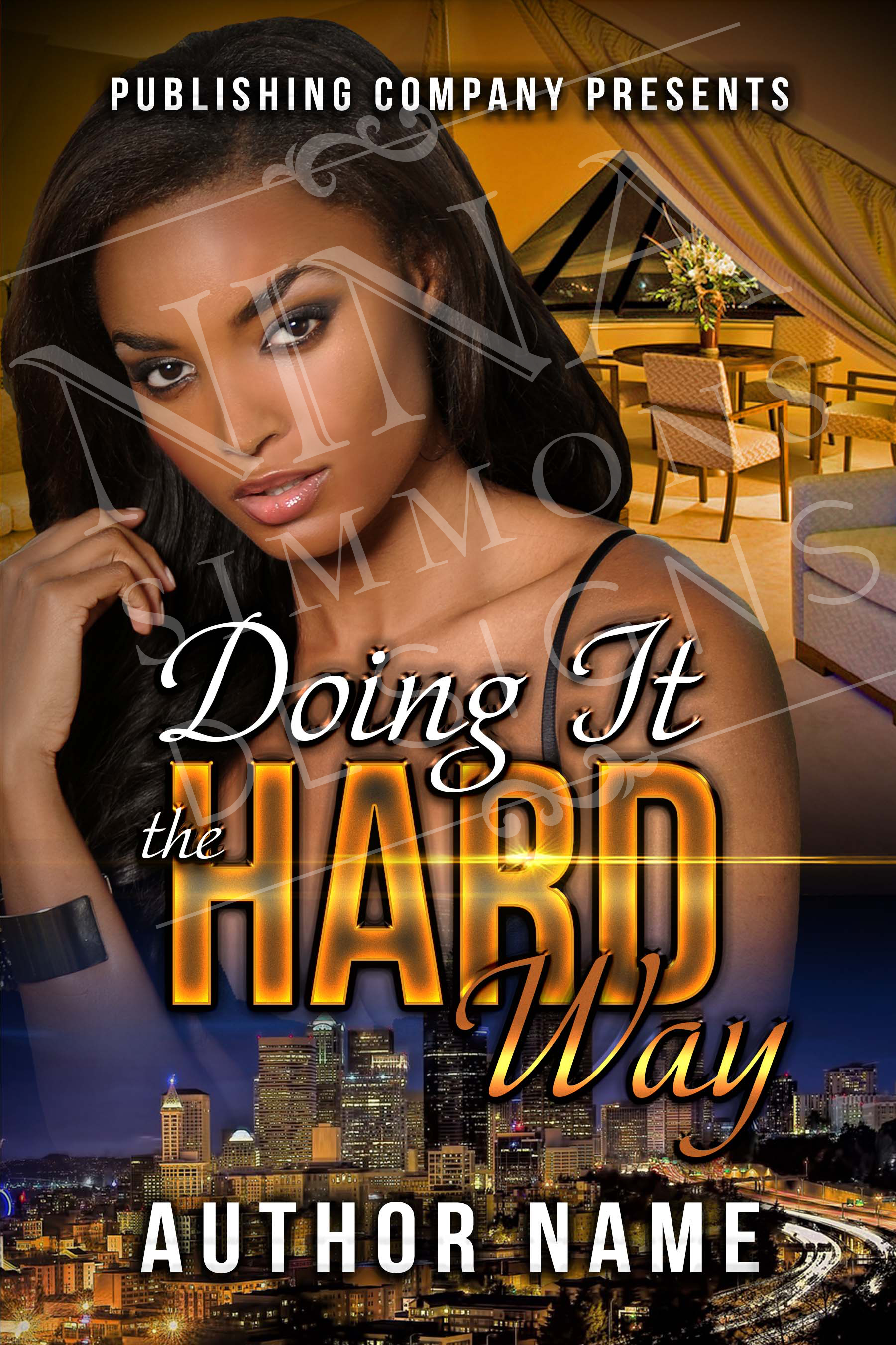 Urban Book Cover Design ~ Pre made book cover design nina simmons designs